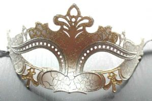 White and Gold Mask | Masks and Tiaras